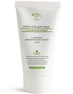 Microliz Hemp oil-based face cream-gel for oily skin SPF15 50ml