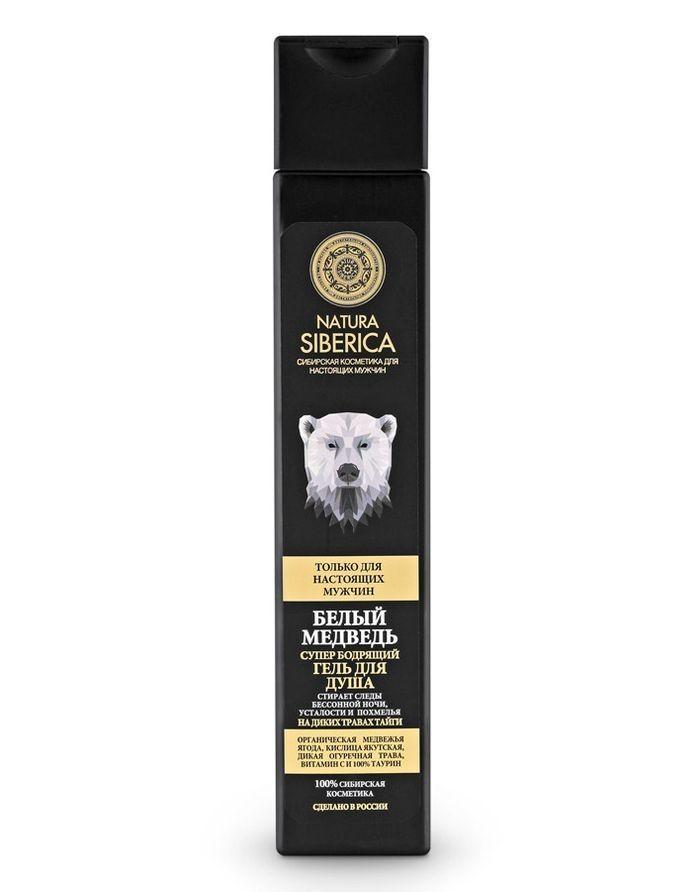 Natura Siberica Men Бодрящий гель для душа Белый медведь 250мл