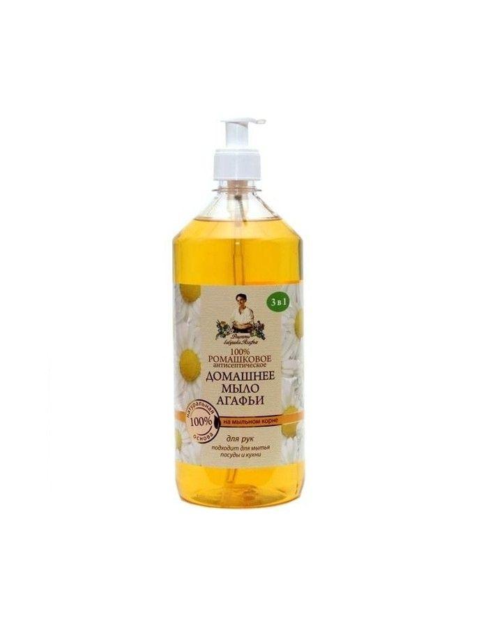 Агафья Домашнее мыло 100% Ромашковое 1000мл