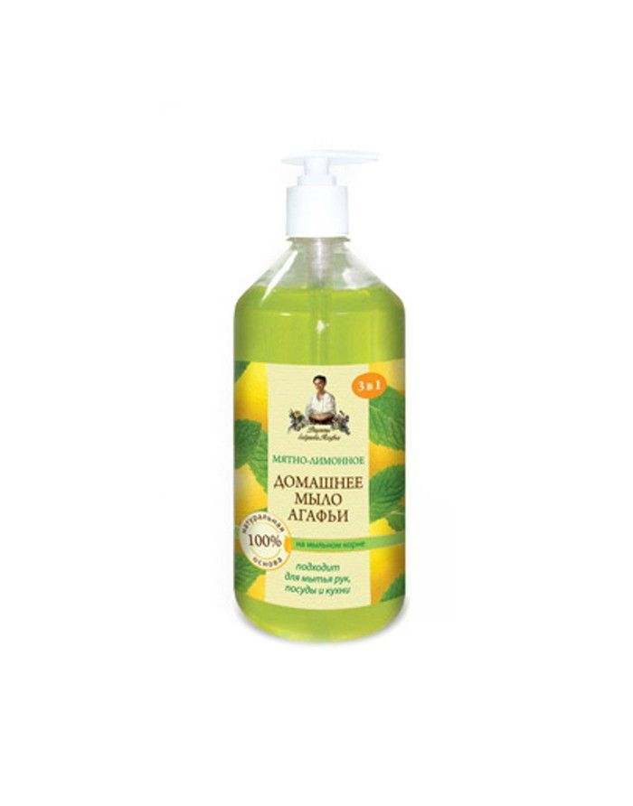 Agafia's Home soap Mint-lemon 1000ml