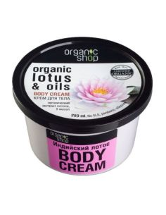 Organic Shop Body Cream Indian Lotus 250ml