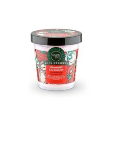 Organic Shop Body Dessert Strawberry & Chocolate Moisturising Body Mousse 450ml