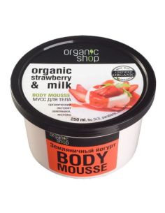 Organic Shop Body Mousse Strawberry Yoghurt 250ml