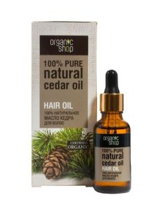 Organic Shop Cedar Oil For Hair 30ml