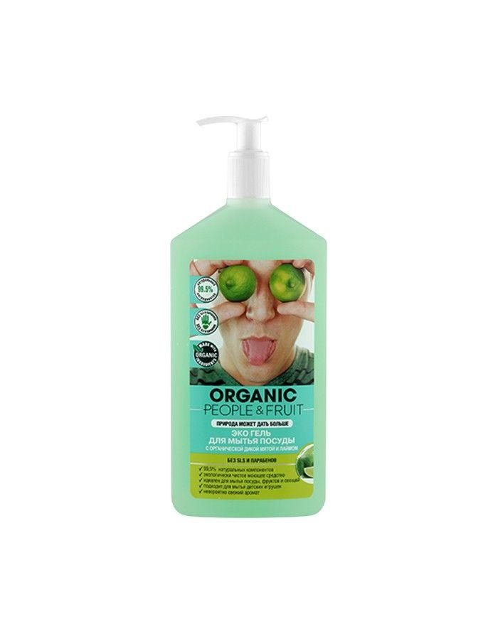 Organic People & Fruit Dishwashing Gel Wild Mint & Lime 500ml