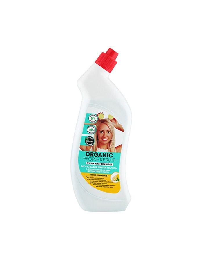 Organic People & Fruit Эко гель для мытья туалета Лимон и Мята 750мл