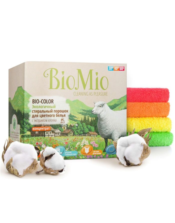 BioMio BIO-COLOR Eco Laundry Powder Concentrate with Cotton extract 1500g