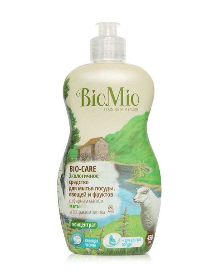 BioMio BIO-CARE Eco Dish, Fruits & Vegetables Washing Liquid with Mint & Cotton extract 450ml