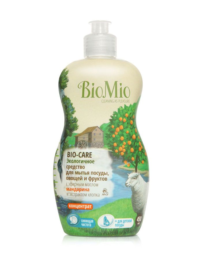 BioMio BIO-CARE Eco Dish, Fruits & Vegetables Washing Liquid with Mandarin oil & Cotton extract 450ml