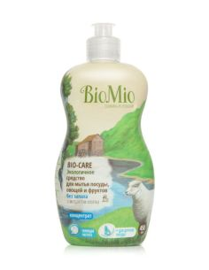 BioMio BIO-CARE Eco Dish, Fruits & Vegetables Washing Liquid with Cotton Extract & Silver ions 450ml