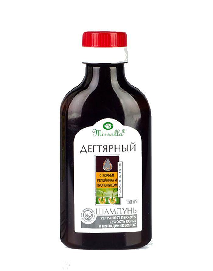Mirrolla Tar shampoo with Burdock root extract and Propolis 150ml