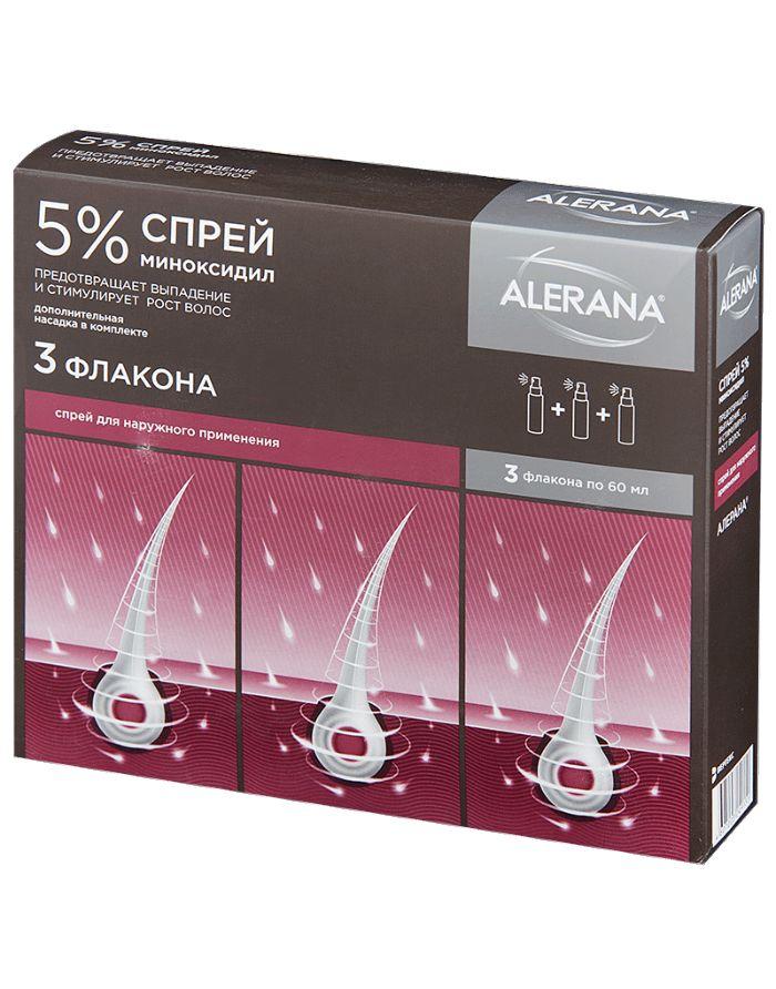 Alerana Спрей 5% для наружного применения 3шт x 60мл