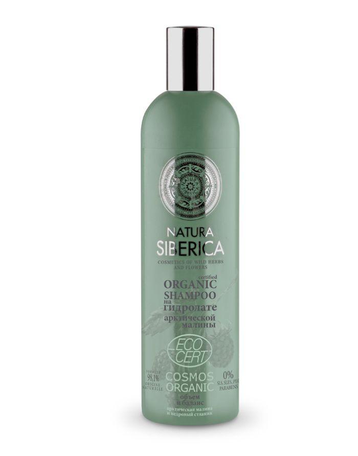 Natura Siberica Exclusive на гидролатах Шампунь для жирных волос Объем и баланс 400мл