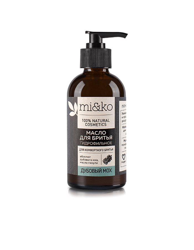 МиКо Гидрофильное масло для бритья Дубовый мох 100мл
