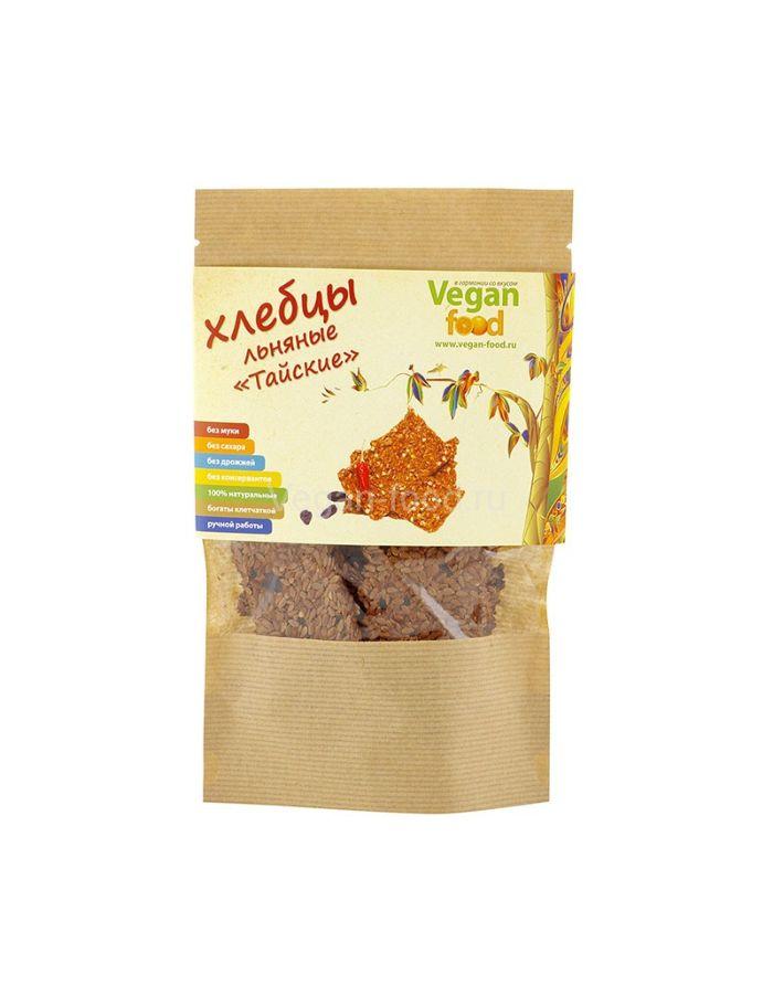 Vegan food Хлебцы льняные Тайские 100гр