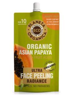 Planeta Organica ECO Organic Asian Papaya Пилинг для сияния кожи лица 100мл
