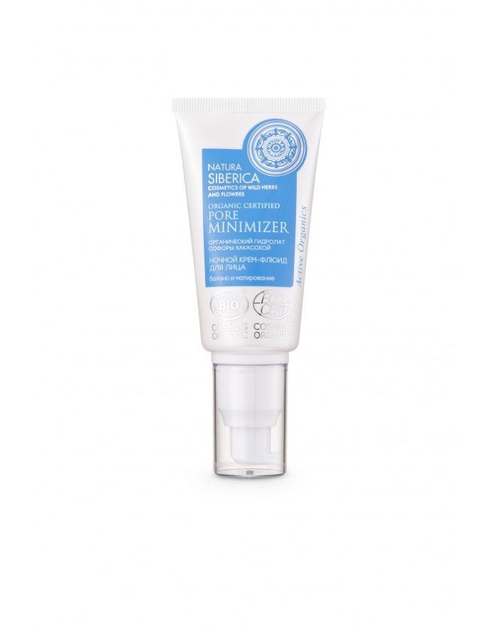 Natura Siberica Cosmos Organic Certified Pore Minimizer Night Cream Fluid 50ml