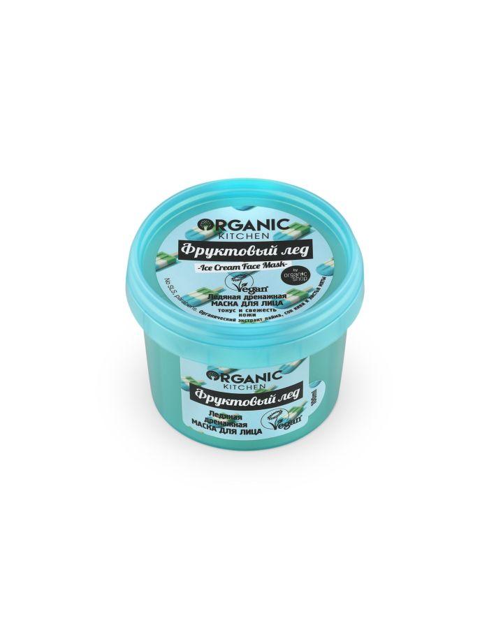 Organic Shop Organic Kitchen Маска для лица ледяная дренажная Фруктовый лед 100мл